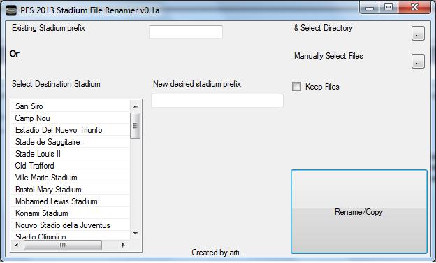 Файлы для pes 2013