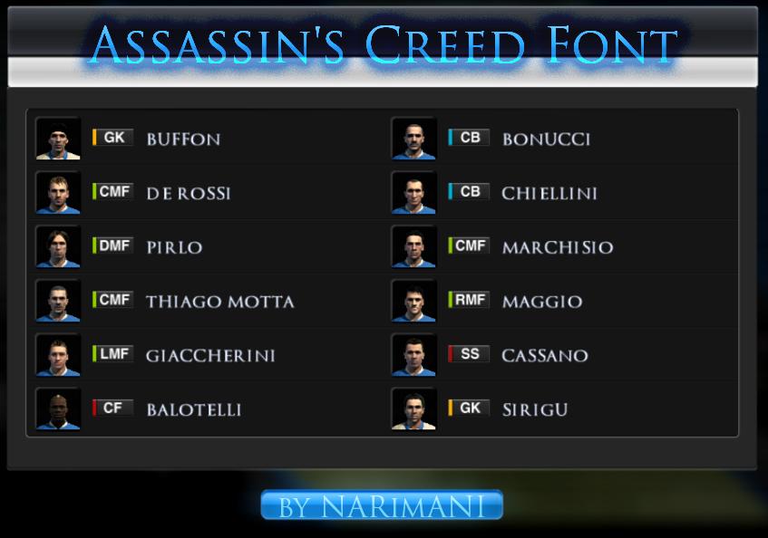 Шрифт assassin s creed